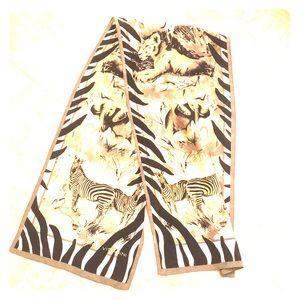 Adrienne Vittadini animal Africa silk scarf